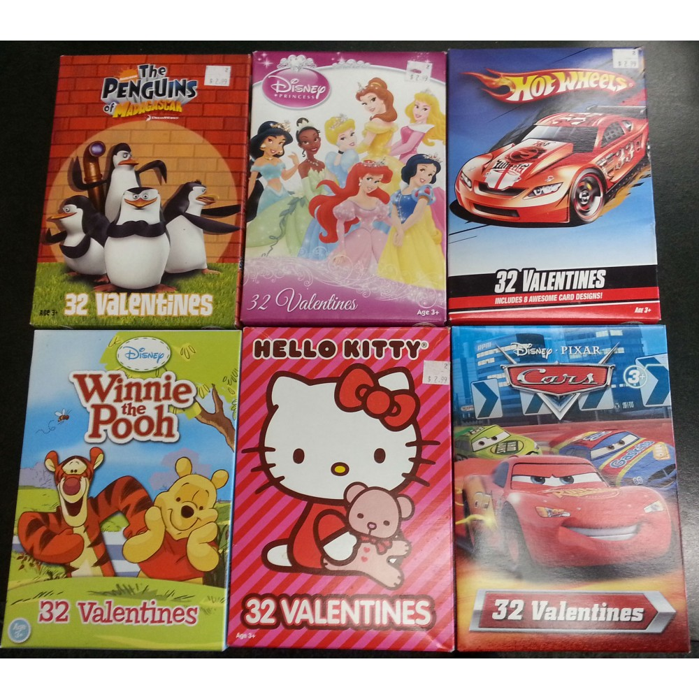BOXED VALENTINES CARDS 32 PER BOX – Box of Valentine Cards