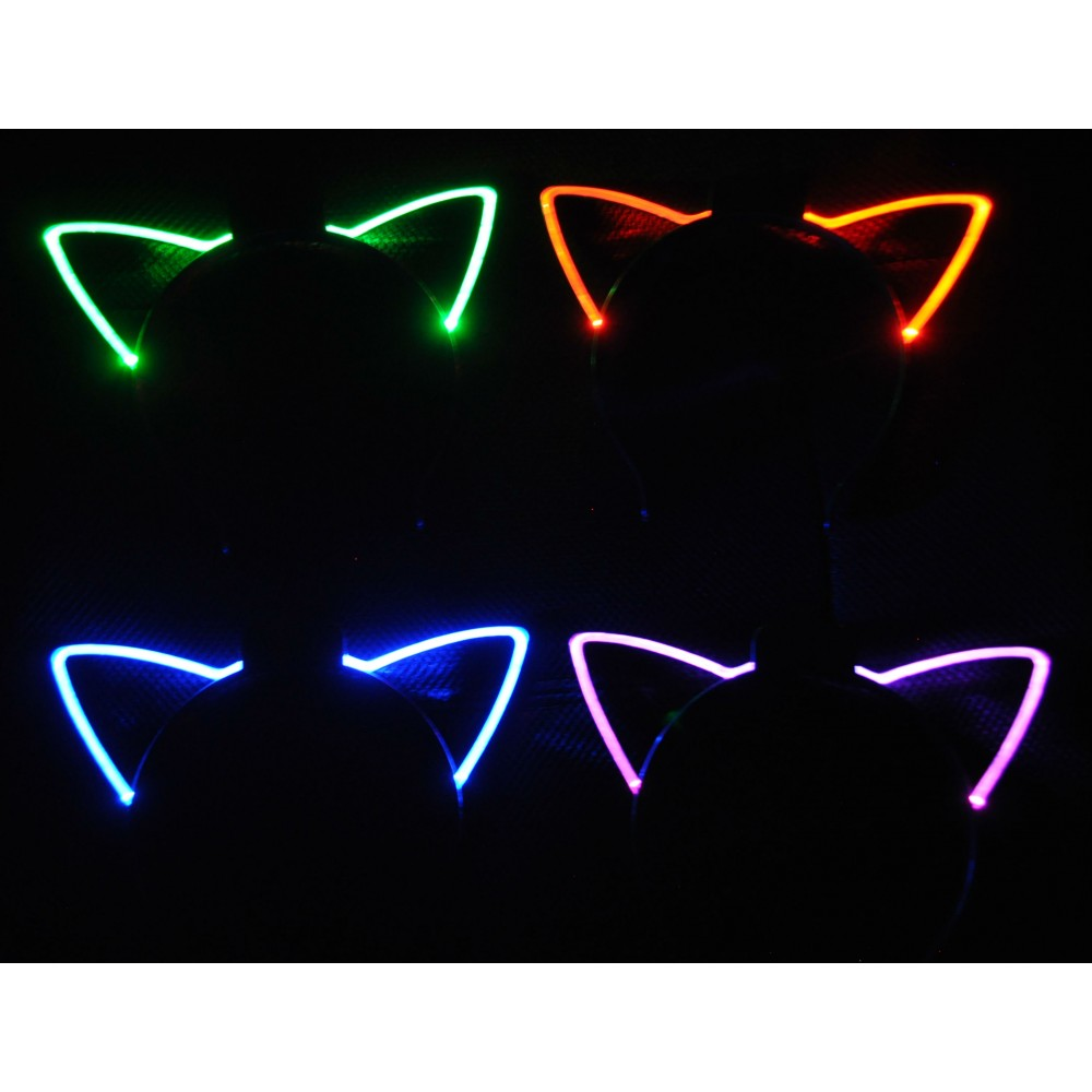 EL WIRE LED CAT EARS ASSORTED COLORS (1 PIECE)