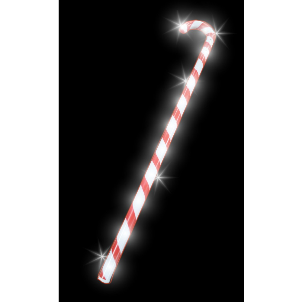 "23"" LED FLASHING CANDY CANE WAND (1 PIECE)"