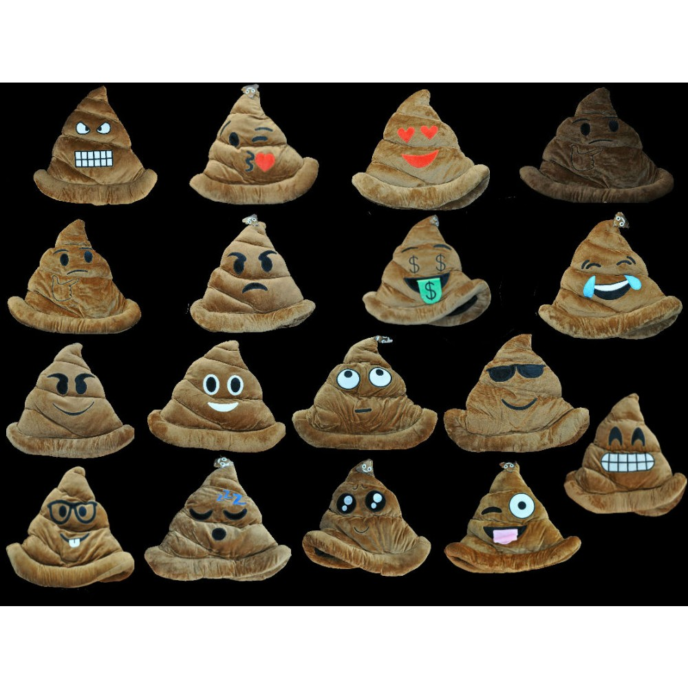 NON-FLASHING ASSORTED STYLE POOP EMOJI HAT (1 PIECE)