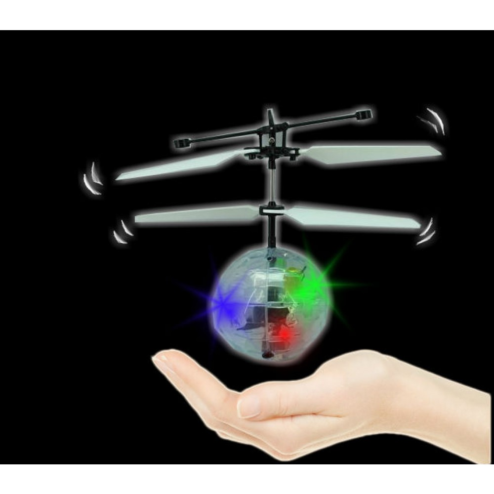 Hover Ball Toy : Flying hover propeller ball with led flashing lights piece