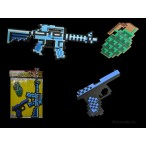 NON-FLASHING CARDED ASSORTED STYLE PIXEL TOYS ( 1 SET )