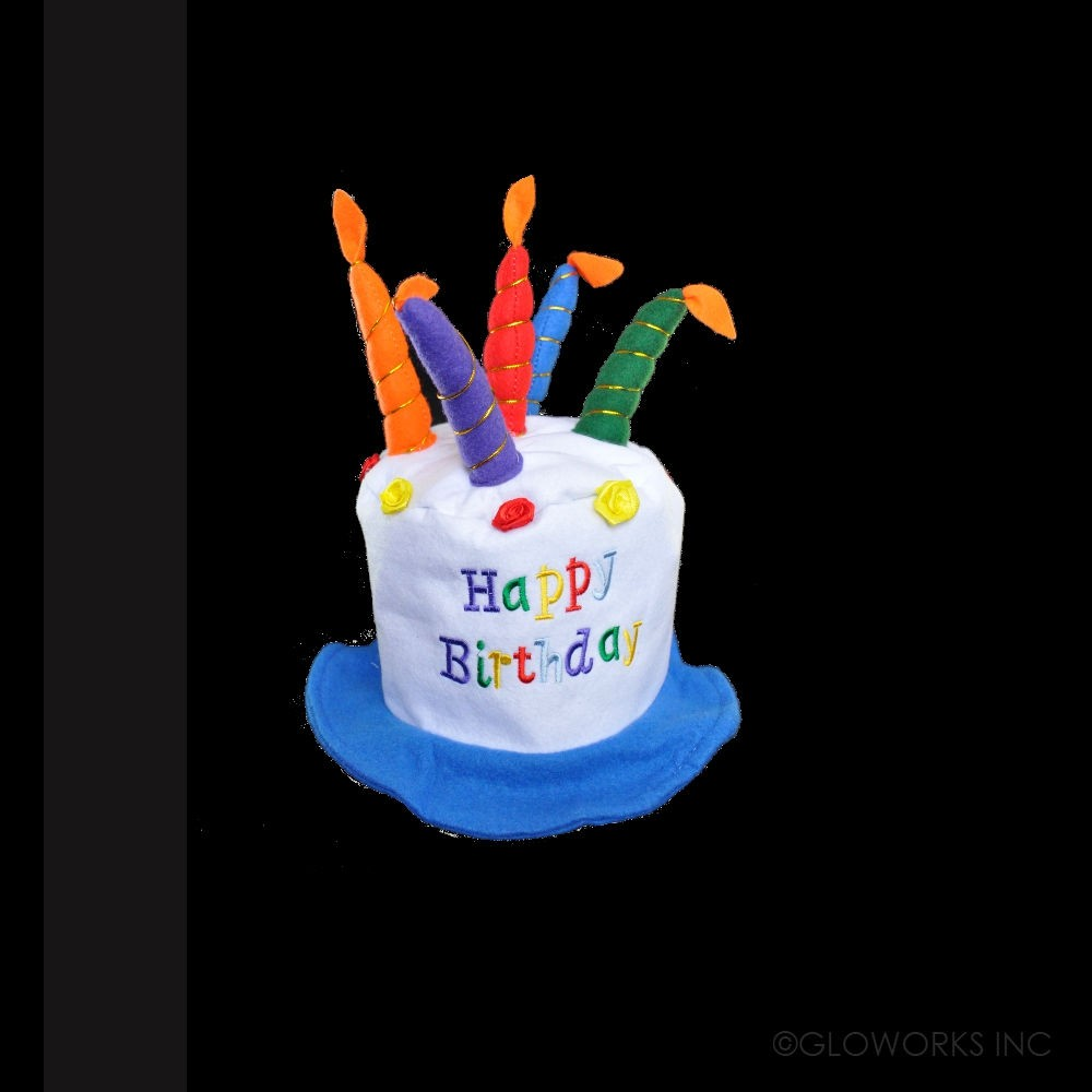 BIRTHDAY CAKE HAT WITH CANDLES 1 PIECE