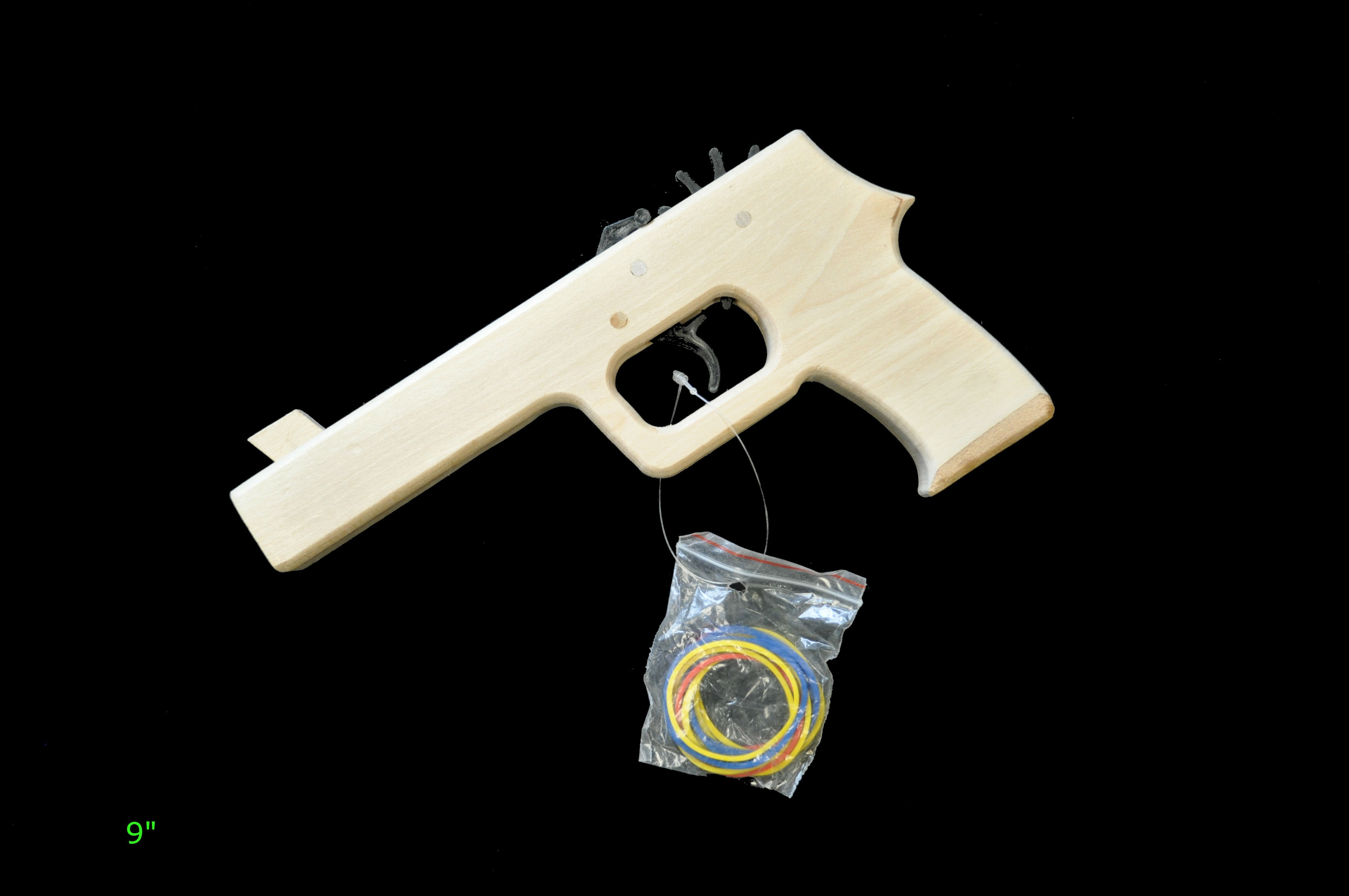 how to make a rubber band gun with hand