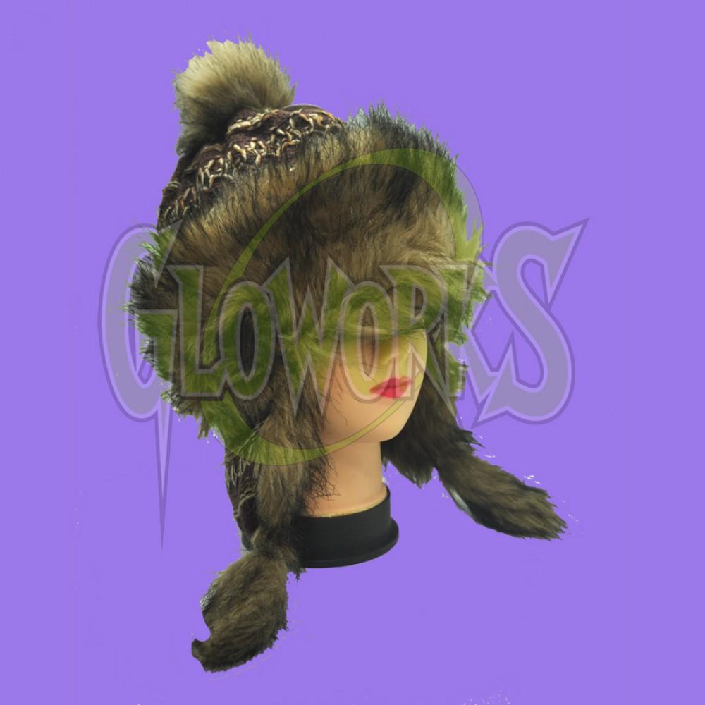 WINTER HAT - SUPER FUZZY PLUSH - ASST. COLORS (1 PIECE)