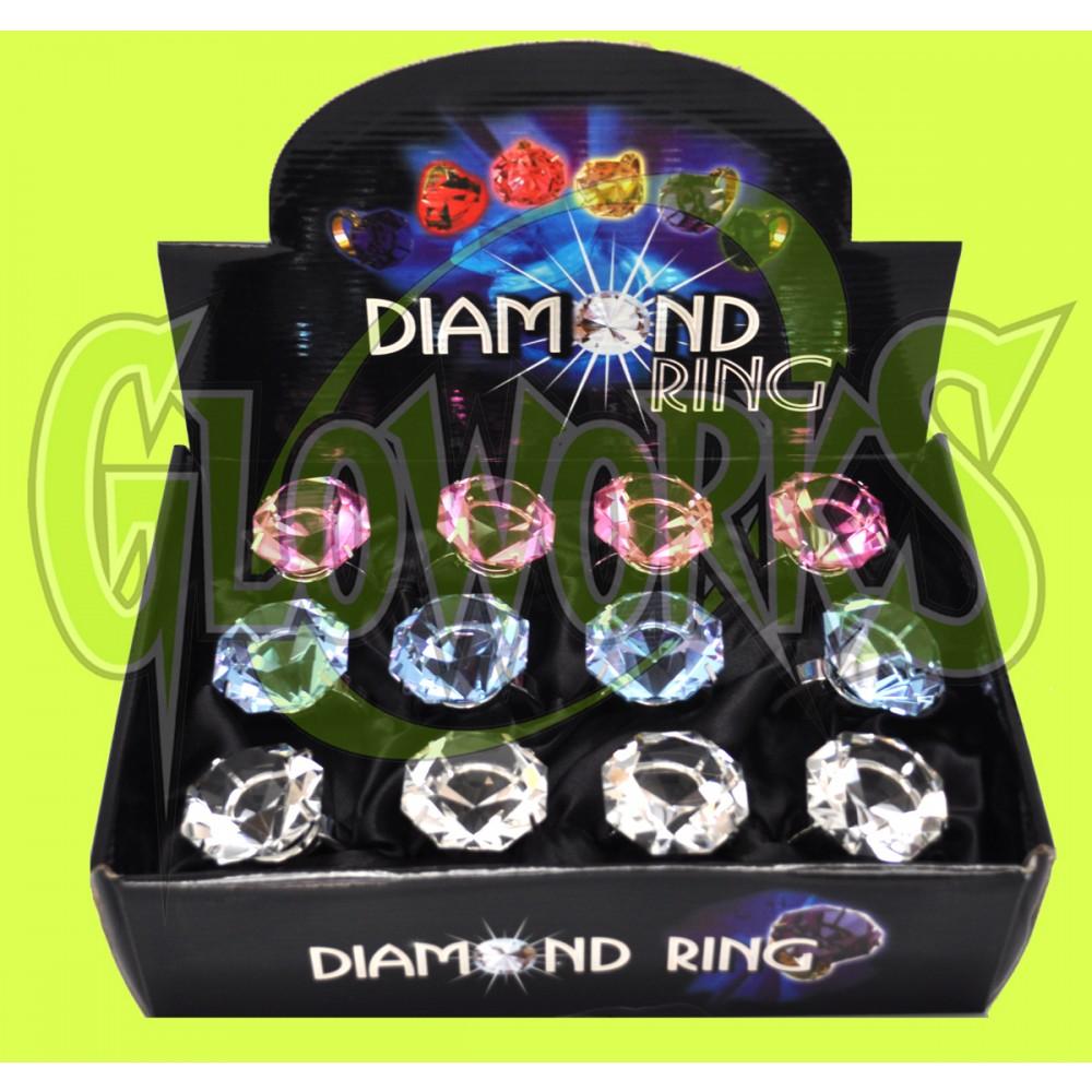 LARGE DIAMOND BLING KEYRING - ASST. COLORS (1 PIECE)
