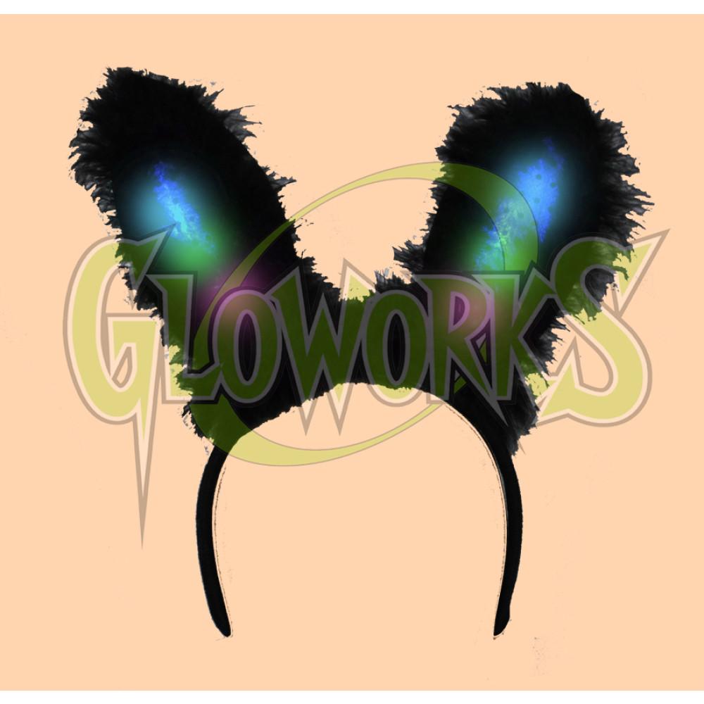 LED BUNNY EARS - BLACK (1 PIECE)
