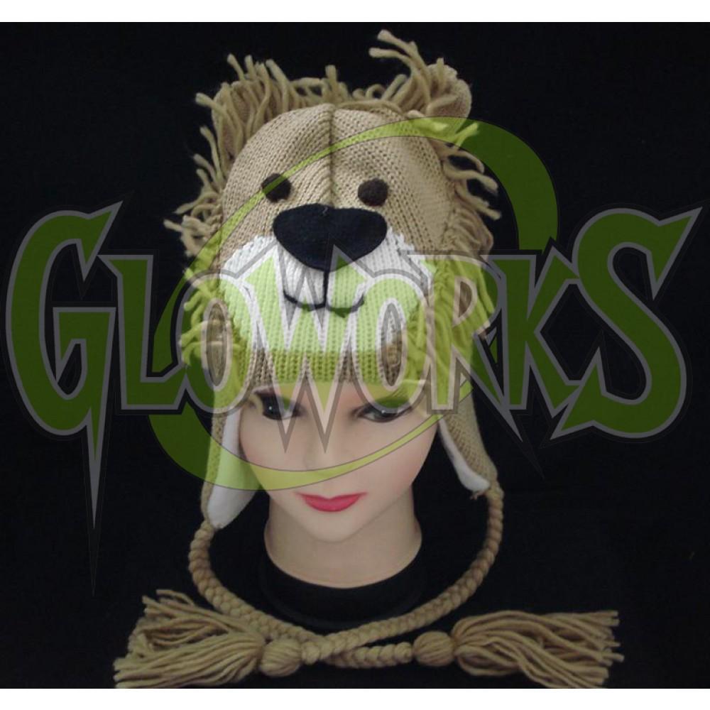 WOOL KNIT LION ANIMAL HAT (1 PIECE)