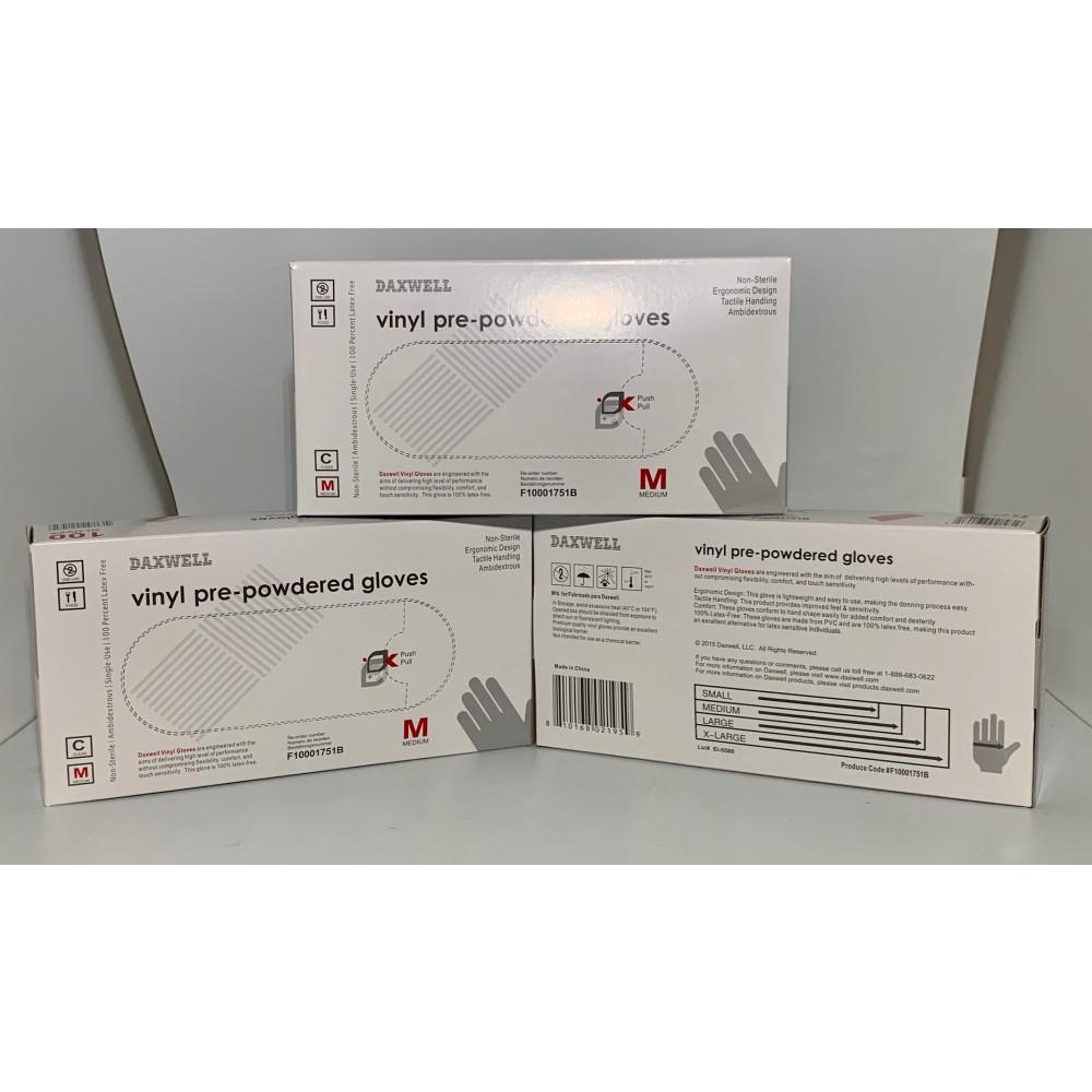 Vinyl Exam Gloves - 100PK (LARGE/MED)