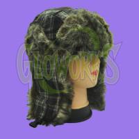 WINTER HAT - LAPLANDER FUZZY PLAID - ASST. COLORS (1 PIECE)