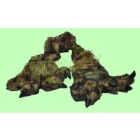 PLUSH ANIMAL SCARF WITH LARGE GLOVE PAWS - HUSKY (1 PIECE)