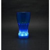 FLASHING 12 OZ NEON BLUE COLOR COKE GLASS (1 CASE/48 PIECES)