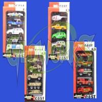 DIE CAST 5 PC. ASSORTED CARS (1 SET)