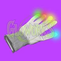 LED WHITE GLOVE - MULTI COLOR (1 PAIR)