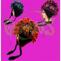 NEON MOHAWK NON-FLASH WINTER KNIT HAT - ASSORTED (1 PIECE)