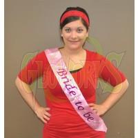"""""""Bride to be"""" Flashing Pink Sash (1 PIECE)"""