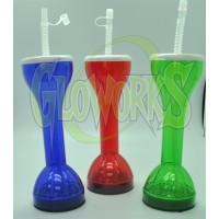 8 oz. FLASHING YARD GLASS - ASST. COLORS (1 DOZEN)