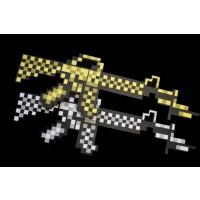 NON-FLASHING FOAM PIXEL MACHINE GUN (1 PIECE)