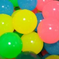 "1"" GLOW IN THE DARK RUBBER BOUNCY BALLS (100 PIECES/BAG)"