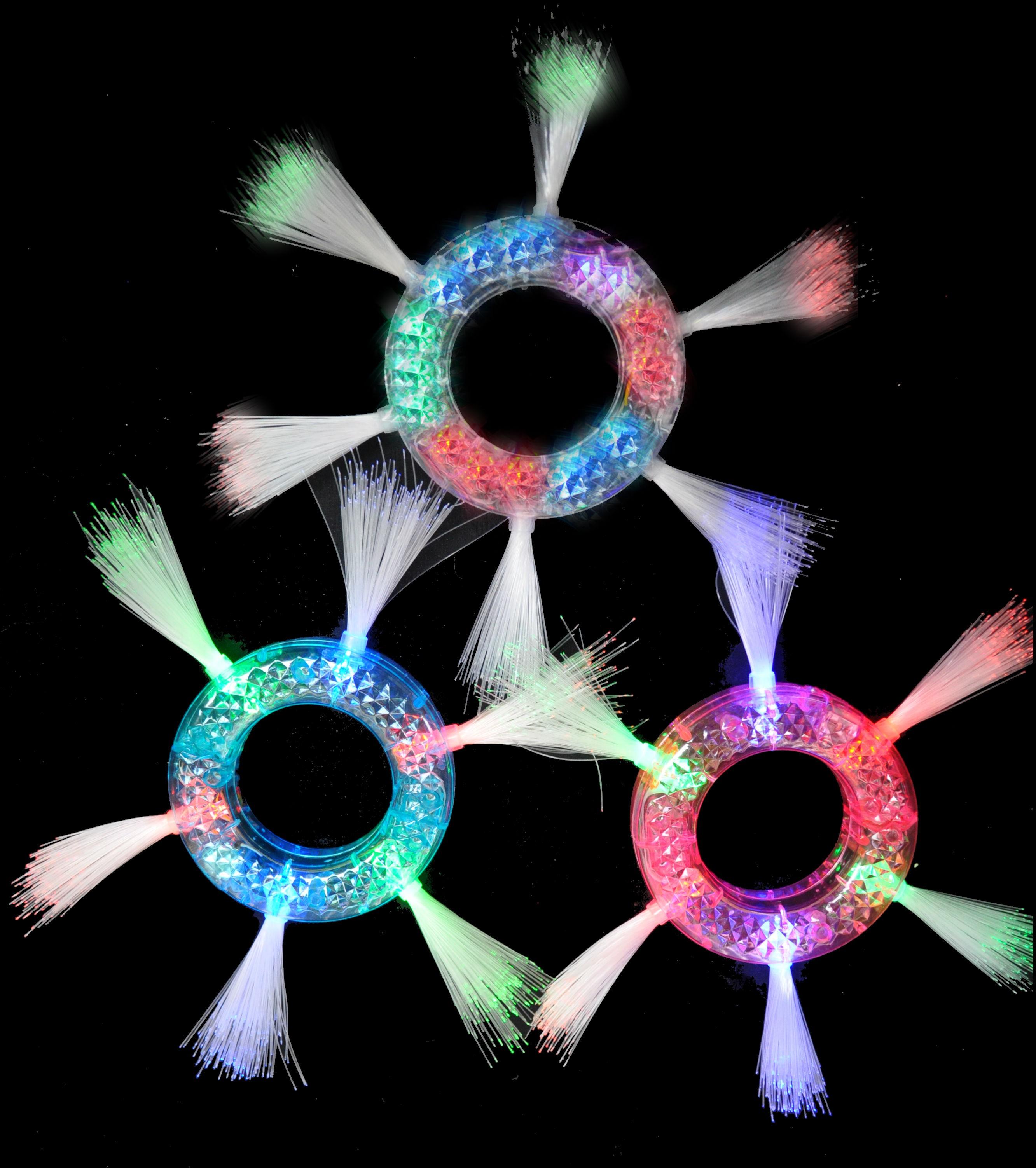 Jumbo Flashing Fiber Optic Bracelet 1 Piece Bracelets Shop Glow Led Lights